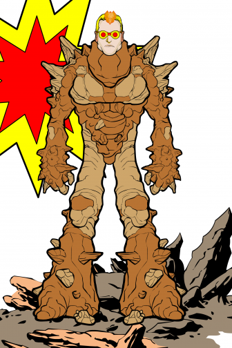 Caldera is a new Yellowstone superhero whose powers include producing eruptions of steam and bubbling mud.